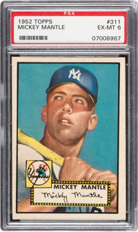 1952 Topps Mickey Mantle #311 PSA EX-MT 6