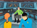 Animation Art:Production Cel, Star Trek: The Animated Series Spock and Arex Production CelSetup (Filmation, 1974)....
