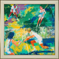 "Miscellaneous Collectibles:General, 1975 ""Mixed Doubles"" Original Oil on Board Painting by LeRoyNeiman...."
