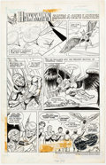 "Original Comic Art:Complete Story, Curt Swan and Tex Blaisdell Hostess Cup Cakes Ad ""Hawkman Makes A Safe Landing"" Complete 1-Page Story Original Art..."
