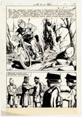 Original Comic Art:Panel Pages, Charlton Artist - Unpublished War Comic Panel Page Original Art(Charlton, c. 1979)....