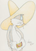 Animation Art:Production Drawing, Virgil Ross - Bugs Bunny Illustration Original Art (WarnerBrothers, c. 1990s)....