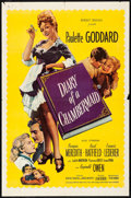 """Movie Posters:Drama, Diary of a Chambermaid (United Artists, 1946) Folded, Fine/Very Fine. One Sheet (27"""" X 41""""). Drama...."""