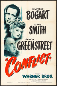 """Conflict (Warner Brothers, 1945). Folded, Fine/Very Fine. One Sheet (27"""" X 41""""). Film Noir"""