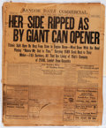 """Movie Posters:Miscellaneous, RMS Titanic Newspaper Lot (Bangor Daily Commercial, 1912) Good. Newspapers (3) (Approx. 19.5"""" X 23.75""""). Miscellaneous...."""