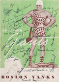 Autographs:Others, 1944 New York Giants Team Signed Program....