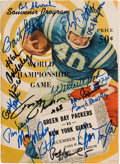 Football Collectibles:Programs, 1961 Green Bay Packers Legends Multi-Signed NFL Championship Game Program....
