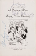 Boxing Collectibles:Autographs, 1965 Muhammad Ali, Gene Tunney & Jack Dempsey Signed Banquet Program. ...