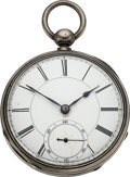 Timepieces:Pocket (pre 1900) , Boston Watch Co. Unsigned, Un-numbered Early Model 57 Prototype. ...
