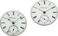 Timepieces:Other , Two G. Waite Fellows Harlem NY Movements. ... (Total: 2 Items)