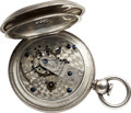 Timepieces:Pocket (pre 1900) , Waltham Rare - The only recorded example of a M1857 P. S. Bartlett nickel plate movement. ...
