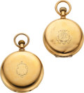 Timepieces:Pocket (pre 1900) , Two Waltham Heavy 18k Gold Model 72 Hunters. ... (Total: 2 Items)