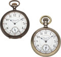 Timepieces:Pocket (post 1900), Two E. Howard & Co. L Size Split Plates. ... (Total: 2 Items)
