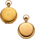 Timepieces:Pocket (post 1900), Two Gold Waltham Model 72 Hunters, 14k & 18k Gold. ... (Total: 2 Items)