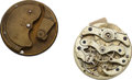 Timepieces:Other , Adams & Perry Movement Die No. 17 From The Hamilton Museum& G.M. Zahm Experimental 20 Size Movement. ...