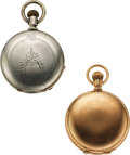 """Timepieces:Pocket (pre 1900) , Two Lancaster Watch Co., 20 Jewel Nickel, 7 Jewel """"Denver"""" Dust Proof, Runners. ... (Total: 2 Items)"""