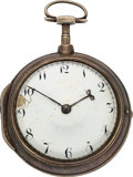 Timepieces:Pocket (pre 1900) , Deane (Student of Goddard), Early American Verge Fusee, circa 1825....