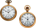 Timepieces:Pocket (pre 1900) , Ball Choice 21 Jewel ORC & 19 Jewel B of LE Official Standards. ... (Total: 2 Items)