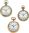 Timepieces:Pocket (pre 1900) , Three Rare Ball Railroad Inspector's 17 Jewel Official Standard Watches. ... (Total: 3 Items)