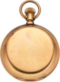 Timepieces:Pocket (pre 1900) , Waltham 18k Gold Model 72 Amn. Grade. ...