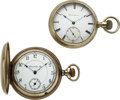Timepieces:Pocket (pre 1900) , Lancaster Pa. 20 Jewel 18 Size & Up-Jeweled Employee's Watch. ... (Total: 2 Items)