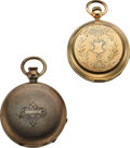 Timepieces:Pocket (post 1900), Cornell Watch Co., California Marked R. Blake & Co. Kokomo Ind., Chicago Marked E.L. Williams. ... (Total: 2 Items)