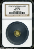California Fractional Gold: , 1875 50C Indian Octagonal 50 Cents, BG-933, R.5, MS66 ProoflikeNGC....
