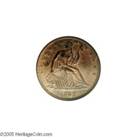 1862 50C Half Dollar, Judd-294, Pollock-352, Low R.7, PR61 Red and Brown ANACS. The design is similar to that used on re...