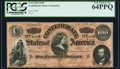 Confederate Notes:1864 Issues, T65 $100 1864 PF-3 Cr. 494 PCGS Very Choice New 64PPQ.. ...