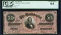Confederate Notes:1864 Issues, T66 $50 1864 PF-15 Cr. 503 PCGS Very Choice New 64.. ...
