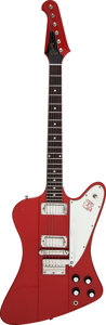 Musical Instruments:Electric Guitars, 1964 Gibson Firebird III Ember Red Solid Body Electric Guitar,Serial # 156298....