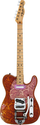 1969 Fender Telecaster Paisley Solid Body Electric Guitar, Serial # 222312
