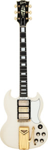 Musical Instruments:Electric Guitars, 1963 Gibson Les Paul Custom Polaris White Solid Body ElectricGuitar, Serial # 106123....