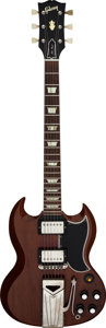 Musical Instruments:Electric Guitars, 1960 Gibson Les Paul SG Cherry Solid Body Electric Guitar, Serial # 7116....