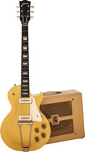 Musical Instruments:Electric Guitars, 1952 Gibson Les Paul Gold Solid Body Electric Guitar with 1953 Gibson BR-9 Amplifier.... (Total: 2 )