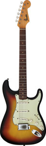 Musical Instruments:Electric Guitars, 1964 Fender Stratocaster Sunburst Solid Body Electric Guitar,Serial # L37778....