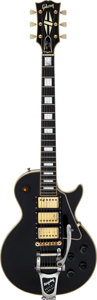 Musical Instruments:Electric Guitars, 1957 Gibson Les Paul Custom Black Beauty Solid Body Electric Guitar, Serial # 78539.. ...