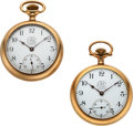 Timepieces:Pocket (pre 1900) , Two Ball 17 Jewel B of LF Standard Hamilton's. ... (Total: 2 Items)