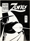 Original Comic Art:Covers, Alex Toth The Classic Alex Toth Zorro Volume 1 Cover Original Art (Image, 1998)....