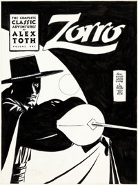 Alex Toth The Classic Alex Toth Zorro Volume 1 Cover Original Art (Image, 1998)