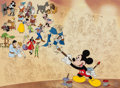 "Animation Art:Seriograph, ""Disney's Mural of Memories"" Limited Edition Sericel (Walt Disney, 1998)...."