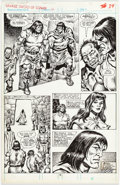 Original Comic Art:Panel Pages, Mike Doherty and Ernie Chan The Savage Sword of Conan #166Story Page 32 Original Art (Marvel, 1989)....