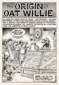 "Original Comic Art:Splash Pages, Jack ""Jaxon"" Jackson Oat Willie #1 Splash Page Original Art (Austintatious, Inc., 1987)...."