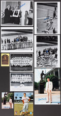 Autographs:Photos, Stan Musial Signed Image Lot of 10....