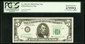 Small Size:Federal Reserve Notes, Fr. 1967-J* $5 1963 Federal Reserve Star Note. PCGS Superb Gem New 67PPQ.. ...