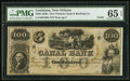 Obsoletes By State:Louisiana, New Orleans, LA- New Orleans Canal & Banking Company $100 18__ N-331 Remainder PMG Gem Uncirculated 65 EPQ.. ...