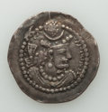 Ancients:Oriental, Ancients: SASANIAN KINGDOM. Varhran V (AD 420-438). AR drachm (30mm, 3.85 gm, 4h). VF...