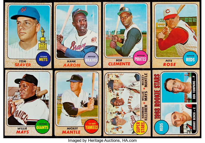 1968 Topps Baseball Near Set 597598 Baseball Cards