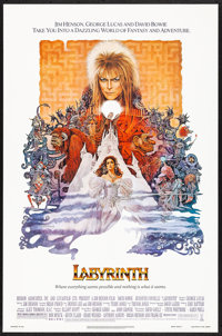 """Labyrinth (Tri-Star, 1986) Rolled, Very Fine-. One Sheet (27"""" X 41"""") Ted CoConis Artwork. Fantasy"""