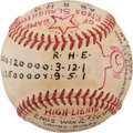 """Baseball Collectibles:Balls, 1949 Enos Slaughter Inscribed """"Trophy Ball"""" for """"Two Home Run-Game"""" from The Enos Slaughter Collection...."""